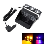 S8 8 LEDs 8W High Power Suction Cup Car Strobe Light Warning Light (Blue)