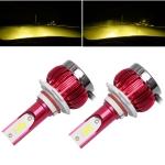 2 PCS FS35 9005 DC9-36V / 24W / 3000K / 3000LM IP68 Car / Motorcycle LED Headlight Lamps / Fog Light(Gold Light)