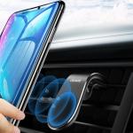 USAMS US-ZJ046 Car Mobile Phone Air Vent Clip Holder Bracket (Black)