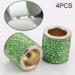 4 PCS Car Crystal Head Pillow Modified Decoration (Green)