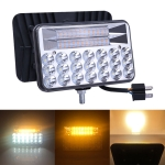 5 inch 22W DC 9-32V 2250LM IP67 3000-5000K Car Double Colors Truck Off-road Vehicle LED Work Lights / Headlight