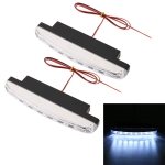 1 Pair DC9-16V 2W 120LM 7000K 8 SMD-5050-LEDs Circular Car DRL&Turn Light