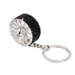 Portable Car Diamond Key Chain Key Rings(Black)