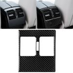 Car Carbon Fiber Rear Air Outlet Panel Decorative Sticker for Mercedes-Benz W204 2007-2013