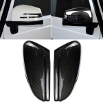 2 PCS Car Carbon Fiber Rearview Mirror Shells Side Wing Mirror Cover Cap for Mercedes-Benz