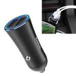 hoco Z30A 3.1A Portable Dual USB Car Charger (Black)
