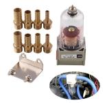 Universal Car Engine Oil Separator Catch Reservoir Tank Can Baffled