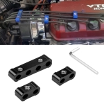 3 PCS Aluminum Engine Spark Plug Wire Separator Divider Organizer Clamp Kit (Black)