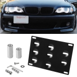 Car Front Bumper Tow Hook License Plate Mounting Bracket Holder for BMW E Series