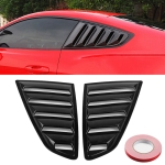 2 PCS Carbon Fiber Painted Panel Side Window Louver Cover Cooling Panel Trim Set for Ford Mustang 2015-2018