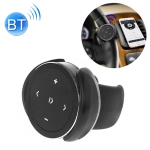 Car Wireless Bluetooth Controller Mobile Phone Multimedia Multi-functional Steering Wheel Remote Controller with Holder (Black)