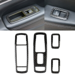 4 PCS Car Window Lift Switch Panel Carbon Fiber Decorative Sticker for Jeep Grand Cherokee