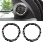 2 PCS Car Front Horn Carbon Fiber Decorative Sticker for Jeep Grand Cherokee