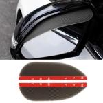 1 Pair Drill Pattern Pure Black Universal Car Rearview Mirror Rain Blades Car Back Mirror Eyebrow Rain Cover