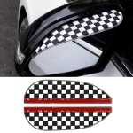 1 Pair Black White Grid Pattern Universal Car Rearview Mirror Rain Blades Car Back Mirror Eyebrow Rain Cover