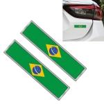 2 PCS Brazilian Flag Pattern Rectangle Car-Styling Sticker Random Decorative Sticker