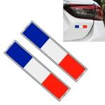 2 PCS France Flag Pattern Rectangle Car-Styling Sticker Random Decorative Sticker