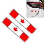 2 PCS Canadian Flag Pattern Rectangle Car-Styling Sticker Random Decorative Sticker