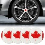 4 PCS Car-Styling Canadian Flag Pattern Metal Wheel Hub Decorative Sticker, Diameter: 5.8cm