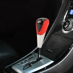 Universal High Carbon Fiber Texture Leather Hole Pattern Car Gear Shift Knob Modified Shifter Lever Knob