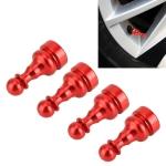4 PCS Chess Shape Gas Cap Mouthpiece Cover Tire Cap Car Tire Valve Caps (Red)