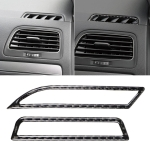 Car Carbon Fiber Air Outlet  Decorative Sticker for Volkswagen Golf 7 2013-2017