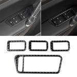 Car Carbon Fiber Window Lift Panel Decorative Sticker for Volkswagen Golf 7 2013-2017