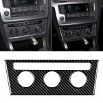 Car Carbon Fiber Air Conditioning Rotary Button Decorative Sticker for Volkswagen Golf 7 2013-2017