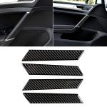Car Carbon Fiber Door Handle Decorative Sticker for Volkswagen Golf 7 2013-2017