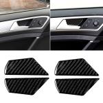 Car Carbon Fiber Door Inner Handle Wrist Panel Decorative Sticker for Volkswagen Golf 7 2013-2017
