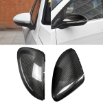 2 PCS Car Carbon Fiber Rearview Mirror Shells Buckle Side Wing Mirror Cover Cap for Volkswagen Golf 7 / GTI / Lamando