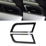 2 PCS Car USA Color Carbon Fiber Side Air Outlet Decorative Sticker for Ford Mustang 2015-2017