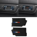 2 PCS Car USA Color Carbon Fiber Door Inner Handle Wrist Panel Decorative Sticker for Ford Mustang 2015-2017