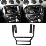 Car USA Color Carbon Fiber Central Control Panel Decorative Sticker for Ford Mustang 2015-2017