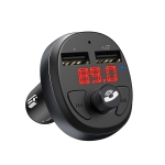 HOCO E41 Wireless Bluetooth4.2 Car FM Transmitter MP3 Music Player with Dual USB Ports (Black)