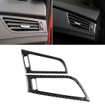 Car Carbon Fiber Side Air Outlet Panel Solid Color Decorative Sticker for BMW Z4 2009-2015