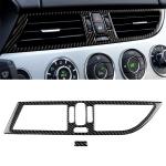 2 PCS Car Carbon Fiber Intermediate Air Outlet Panel Soild Color Decorative Sticker for BMW Z4 2009-2015