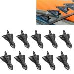 10 PCS Universal Car Carbon Fiber Shark Fin Diffuser Vortex Generator Roof Spoiler