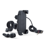 Motorcycle Mobile Phone Charging Stand with USB Charging, Suitable for 3.5-7 inch Phones