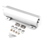 Universal Car 3 x 10 inch Polished Stainless Steel 32 OZ Radiator Overflow Tank Bottle Catch Can