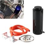Universal Radiator Coolant Aluminum Catch Tank Overflow Reservoir, Capacity: 800ML (Black)