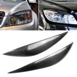 Car Carbon Fiber Light Eyebrow for Mercedes-Benz C Class