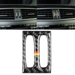 Car German Flag Carbon Fiber Intermediate Air Outlet Panel Decorative Sticker for Mercedes-Benz W204 2011-2013
