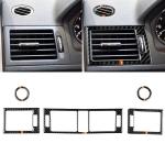 Car German Flag Carbon Fiber Air Outlet Ring + Intermediate Air Outlet + Side Air Outlet Panel Decorative Sticker for Mercedes-Benz W204 207-2010