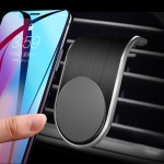 Car Metal Magnetic Air Outlet Mobile Phone Holder Bracket (Black)