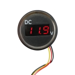 B3612 DC 0-100V IP67 Universal Car / RV / Boat Modified Digital Voltmeter with Cable, Cable Length: 18cm