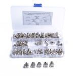 50 Sets M5 Square Hole Hardware Cage Nuts & Mounting Screws Washers for Server Rack and Cabinet (M5 x 16mm)