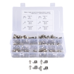 100 Sets M5 M6 Square Hole Hardware Cage Nuts & Mounting Screws Washers for Server Rack and Cabinet