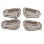 4 PCS Car Inner Door Handles 69205-02050RH / 69206-02050LH for Toyota Corolla 1998-2002 (Beige)