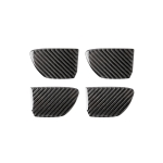 4 PCS Car Carbon Fiber Door Inner Handle Wrist Panel Decorative Sticker for Infiniti Q50 / Q60